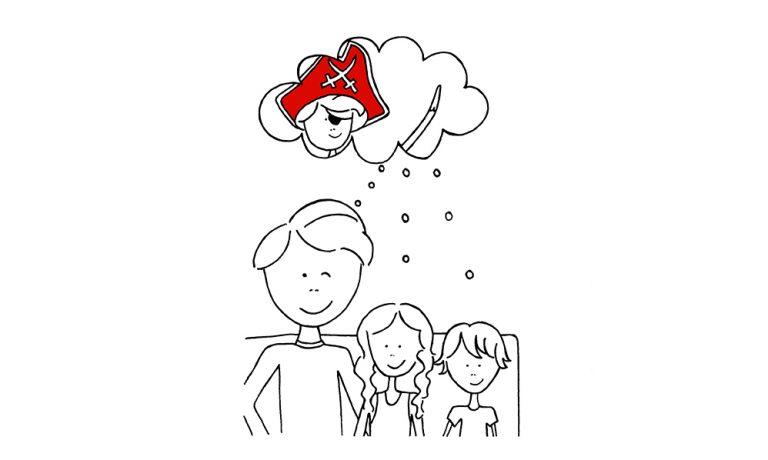 Pleuntje met zijn kinderen